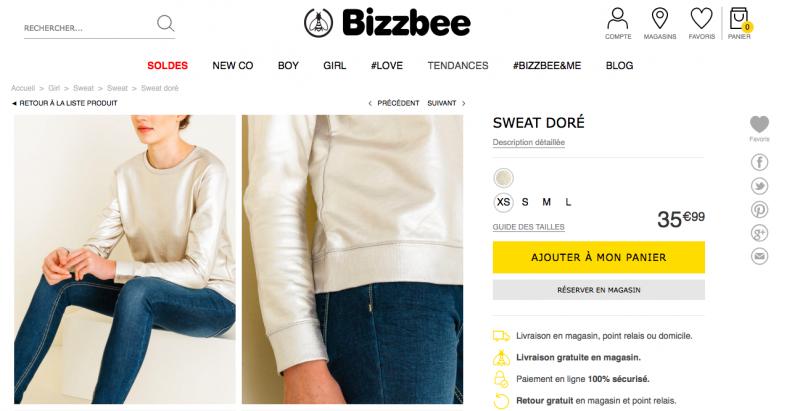Splendide pull Bizzbee