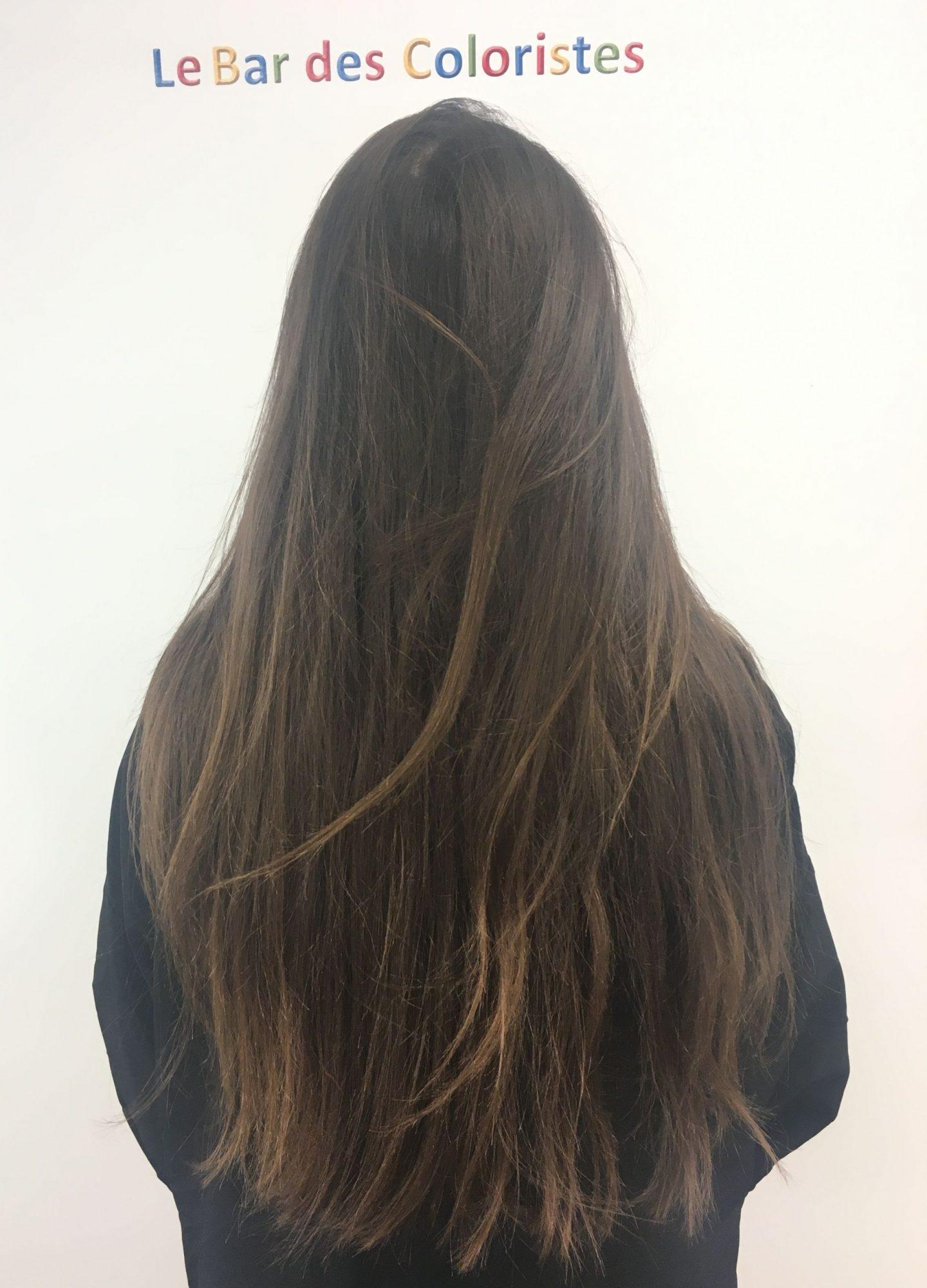 Mes cheveux avant de passer entre les mains des coiffeurs du bar des coloristes